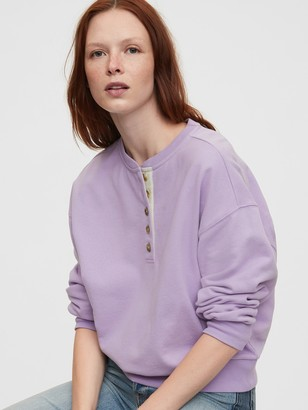 Gap Fleece Henley Sweatshirt