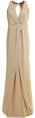 Just Cavalli Wrap-effect Metallic Stretch-knit Gown