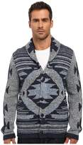 Lucky Brand Ladder Back Jacquard Shawl Cardigan