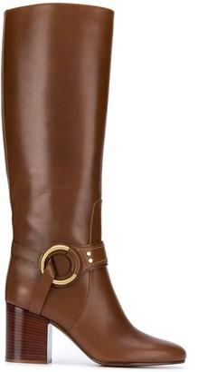 Chloé 80mm Buckle-Detail Boots