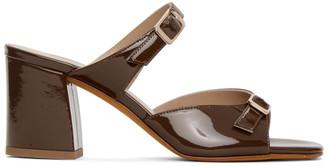 Maryam Nassir Zadeh Brown Patent Una Sandals