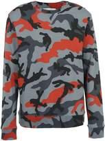 Valentino Camouflage Print Crewneck Pullover
