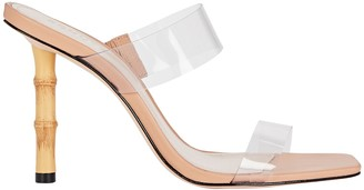 Schutz Colette Bamboo and PVC Sandals