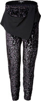 Just Cavalli Layered Panel Velvet Burn-Out Pants