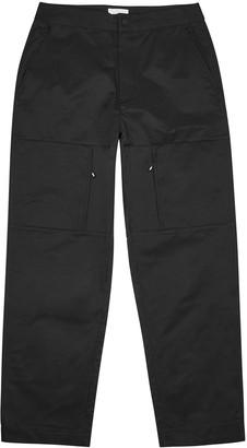 Wood Wood Hamish black straight-leg shell trousers