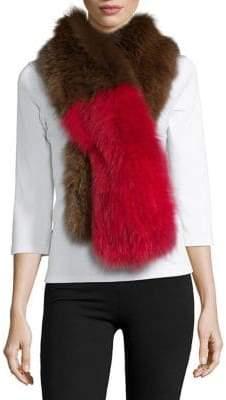 Adrienne Landau Fox Fur Scarf