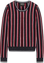 Markus Lupfer Grace Embellished Striped Metallic Merino Wool-blend Sweater - x small