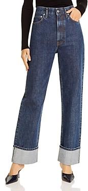 Helmut Lang Femme Hi Straight Jeans in Dark Stone Wash