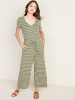 Old Navy Boucle-Knit Waist-Defined Jumpsuit for Women
