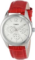 Timex Women's T2P069 Leather Quartz Watch