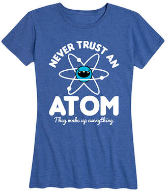 Instant Message Women's Women's Tee Shirts HEATHER - Heather Royal Blue 'Never Trust An Atom' Relaxed-Fit Tee - Women