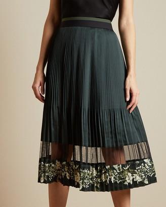 Ted Baker BONIIEE Meadow Sweep pleated layered midi skirt