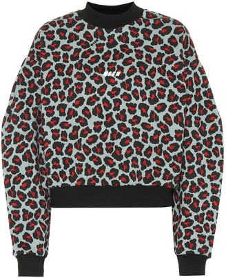 MSGM Leopard-print cotton sweatshirt