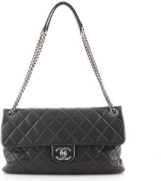 Chanel Aged CC Chain Flap Bag Quilted Calfskin Large