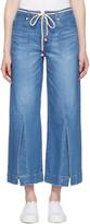 Sjyp Blue Wide Slit Jeans
