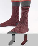 Selected 2 Pack Stripe Socks