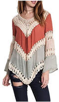 Umgee USA Crochet-Lace Color-Block Tunic