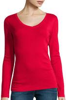 JCPenney STYLUS Stylus Long-Sleeve V-Neck T-Shirt
