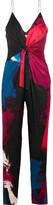 Diane von Furstenberg Rylen Twist-front Printed Silk-blend Jumpsuit - Pink