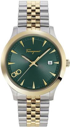 Salvatore Ferragamo Men's 40mm Guilloche Two-Tone Bracelet Watch