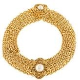Chanel Faux Pearl Multistrand Choker Necklace