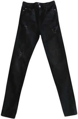 River Island Black Cotton - elasthane Jeans for Women