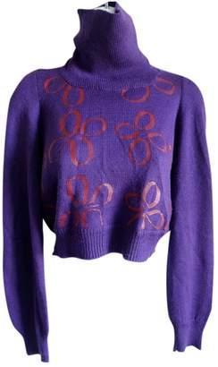 Comme des Garcons Purple Synthetic Knitwear