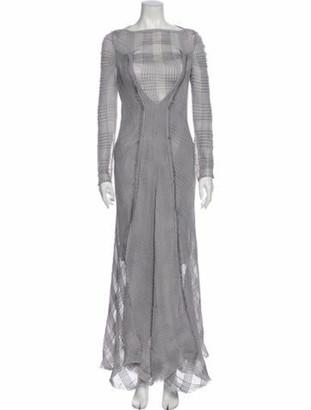 Roland Mouret Bateau Neckline Long Dress w/ Tags Grey