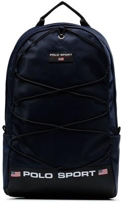 Polo Ralph Lauren logo print backpack