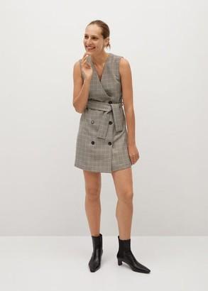 MANGO Check short dress brown - 2 - Women