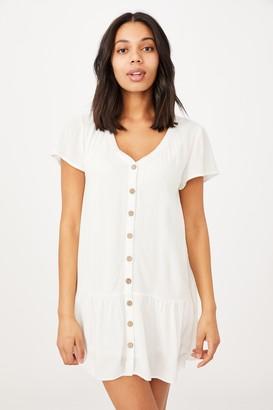 Cotton On Woven Rachael Button Front Mini Dress