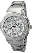 JBW Saxon Mens 1/6 CT. T.W. Diamond Stainless Steel Watch JB-6101-B