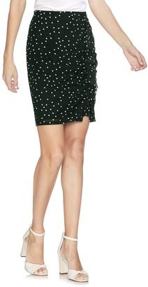 Vince Camuto Ruffle Polka Dot Mesh Skirt