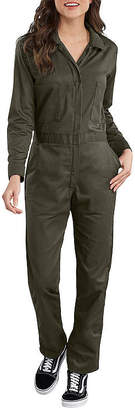 Dickies Misses Cotton Coverall Long Sleeve Jumpsuit