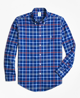 Brooks Brothers Non-Iron BrooksCool® Madison Fit Plaid Sport Shirt
