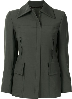 Gucci Pre-Owned Classic Collar Zipped Jacket