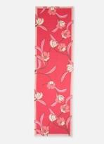 St. John Spring Floral Print Silk Georgette Scarf
