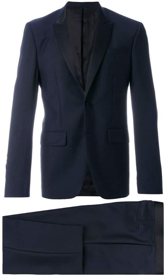 Givenchy contrast lapel two piece suit