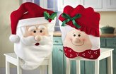 CHRISTMAS KITCHEN CHAIR COVER FEATURING MR AND MRS SANTA CLAUS -Transform Your Dining Room Chairs And Your Home For The Spirit of Christmas