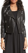 Rebecca Minkoff Wes Moto Leather & Neoprene Jacket