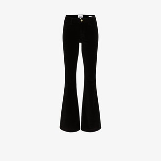Frame Le High flared velvet trousers