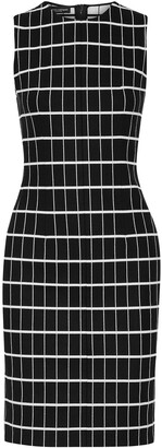 Narciso Rodriguez Checked Cotton-blend Jacquard Dress