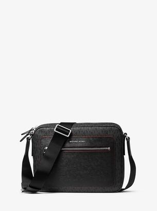 Michael Kors Hudson Logo and Crossgrain Leather Camera Bag