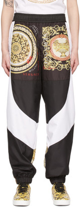 Versace White and Black Barocco Mosaic Lounge Pants