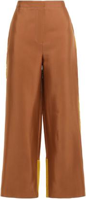 Roksanda Two-tone Crepe Wide-leg Pants