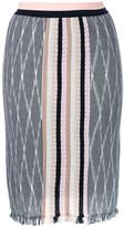 Missoni frayed skirt