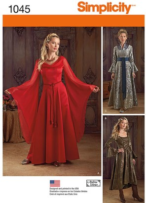 Simplicity Women's Fantasy Costumes Sewing Pattern, 1045