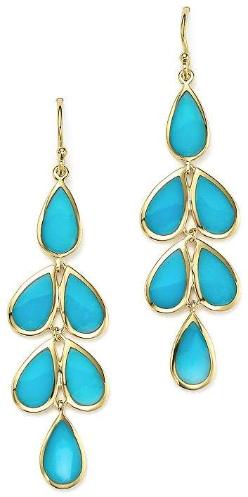 Ippolita 18K Yellow Gold Rock Candy® Cascade Teardrop Earrings with Turquoise
