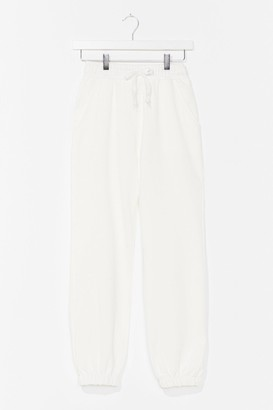 Nasty Gal Womens It'll Work Out High-Waisted Joggers - White - XL