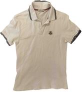 Moncler White Cotton Polo shirt
